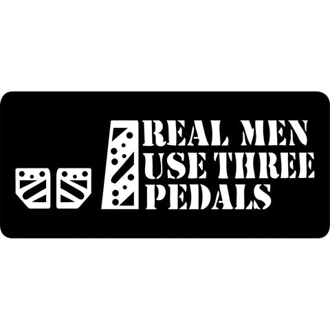 REAL MEN (CAR) | Sticker