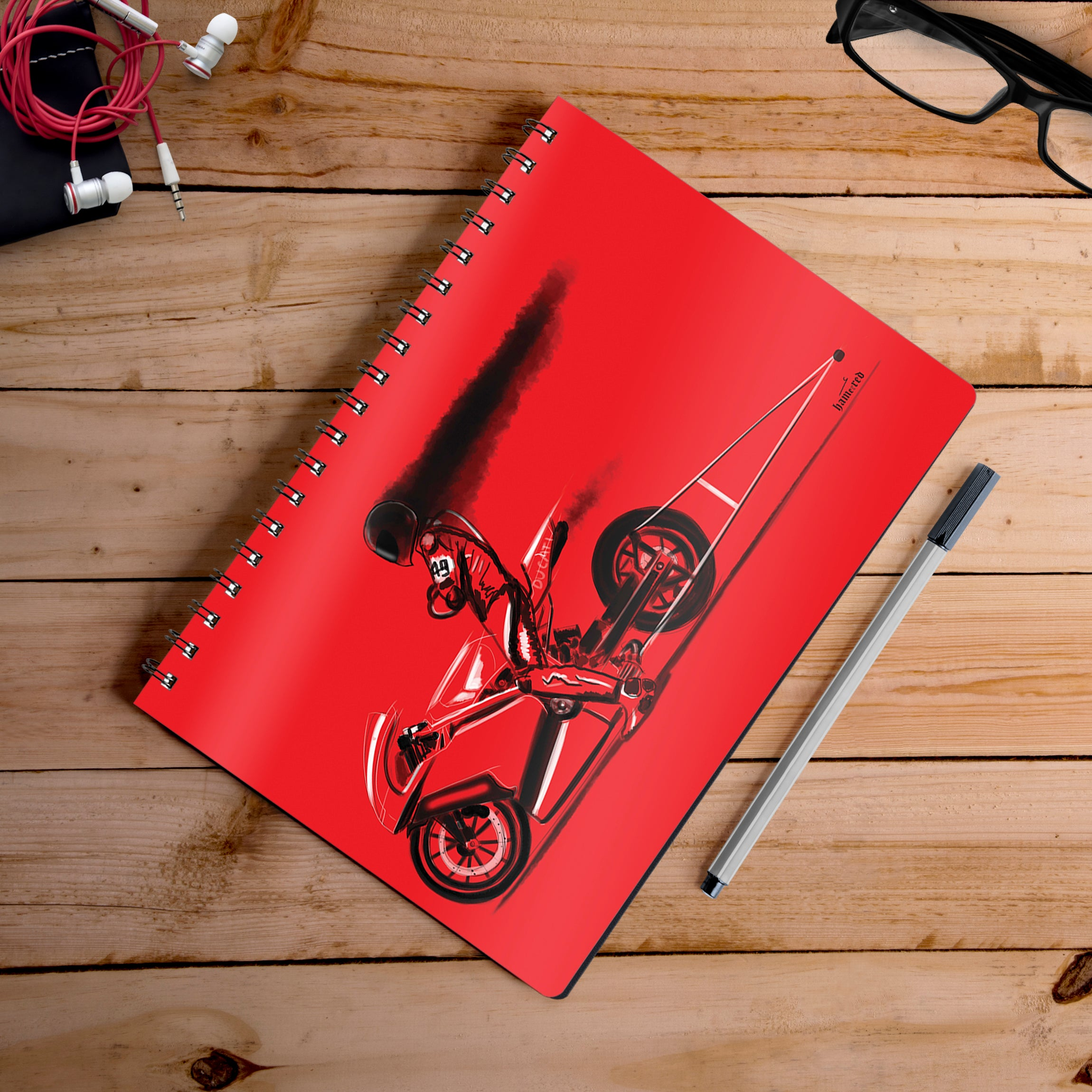 Buy-Red-Jet-Artist-Hamerred49-Notebook | 100kmph