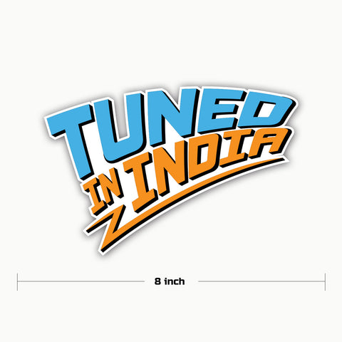 Tuned in India-STI | Sticker