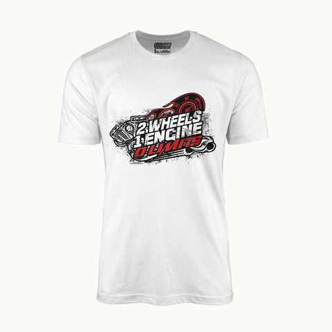 2 Wheels 1 Engine 0 Limits | T-Shirt