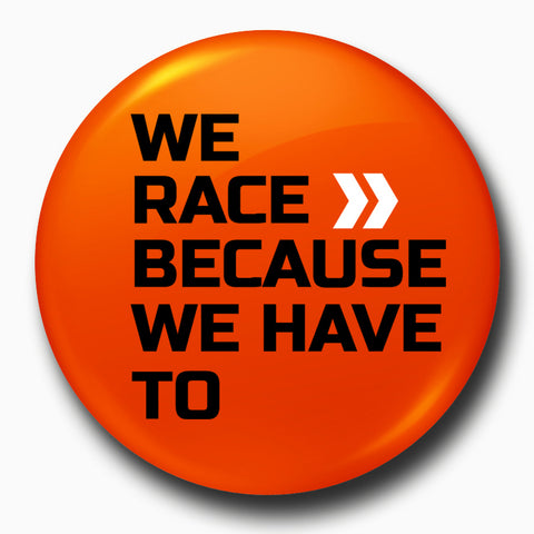 We Race | Badge