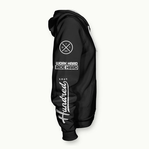 Hundred Kmph Patches | Zipper-Hoodie