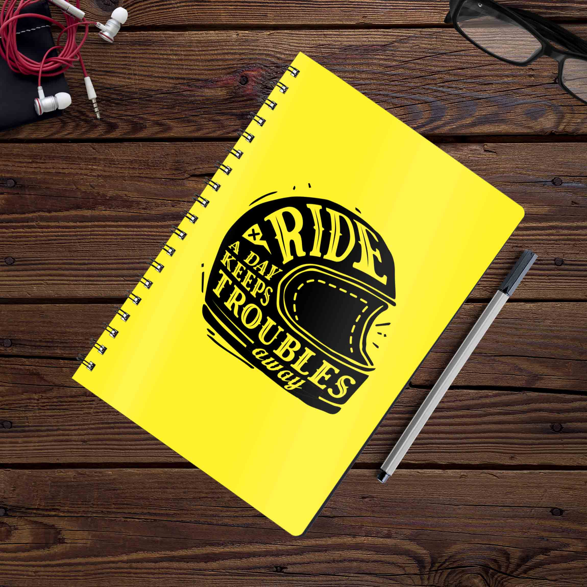 Ride A Day Keeps Troubles Away | Notebook