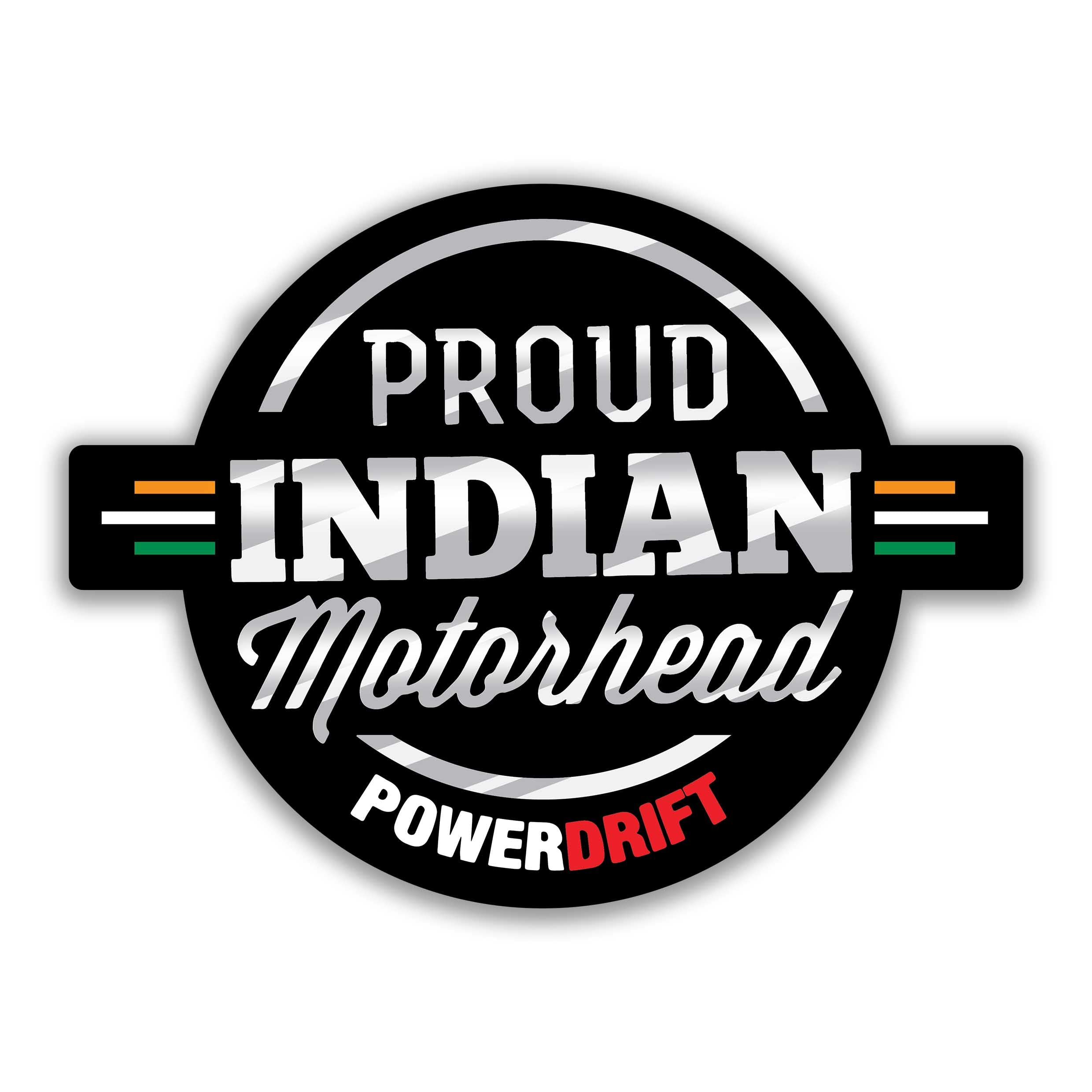 Buy-Proud Indian Motorhead: PowerDrift-Stickers| 100kmph