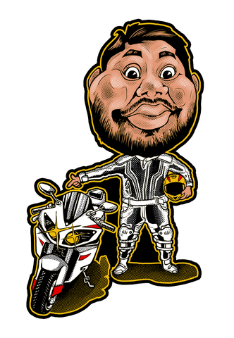 Biker Harsha | Sticker