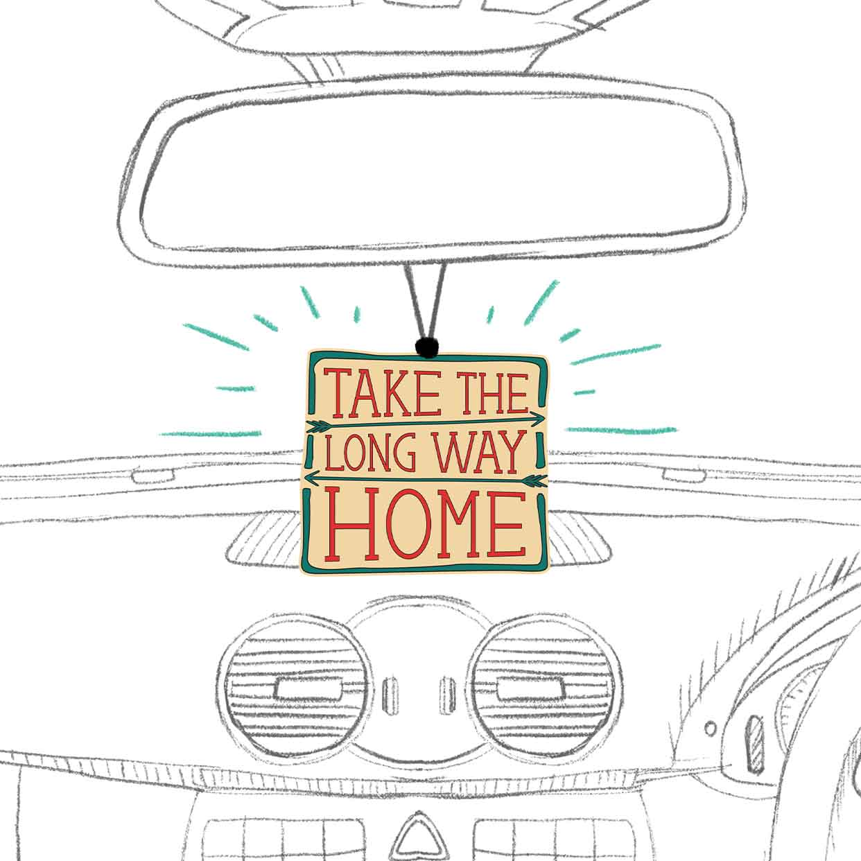 Take The Long Way Home | Air Freshener