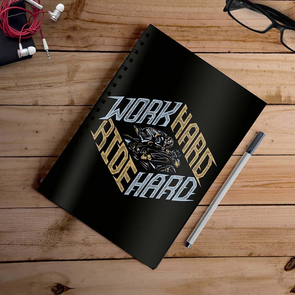 Work Hard Ride Hard | Notebook