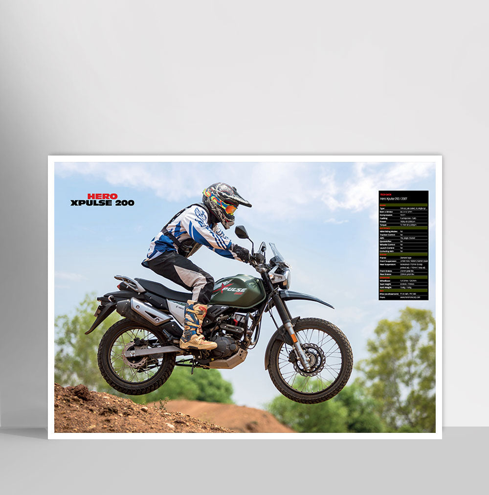 Fast Bikes India-Xpulse 200 Green (Limited Edition) | Poster