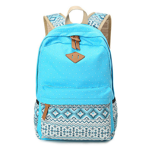 ef97ac65f8 American Indian Retro Style Backpack - Blue Sky