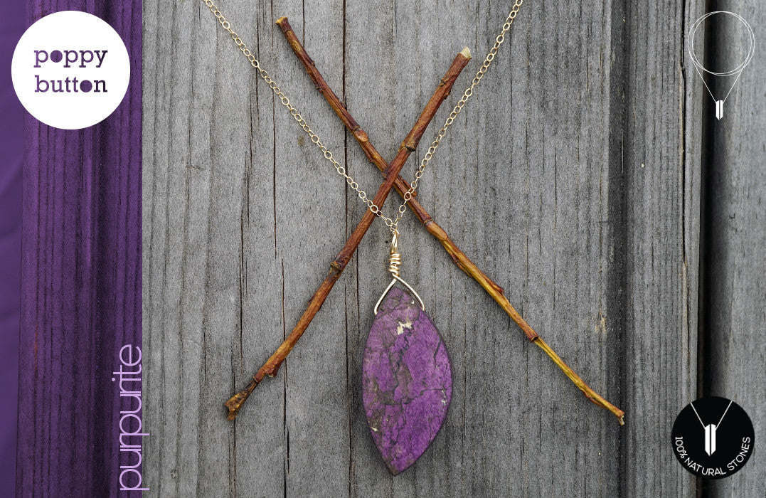 Purpurite necklace large