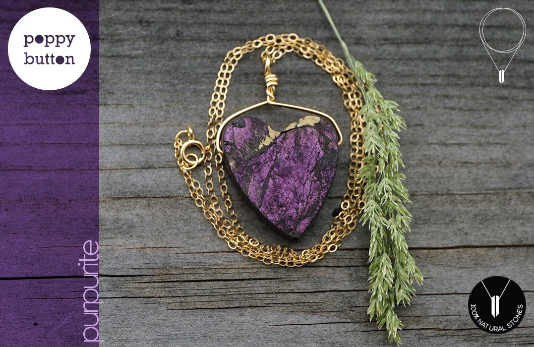 Heart Purpurite necklace