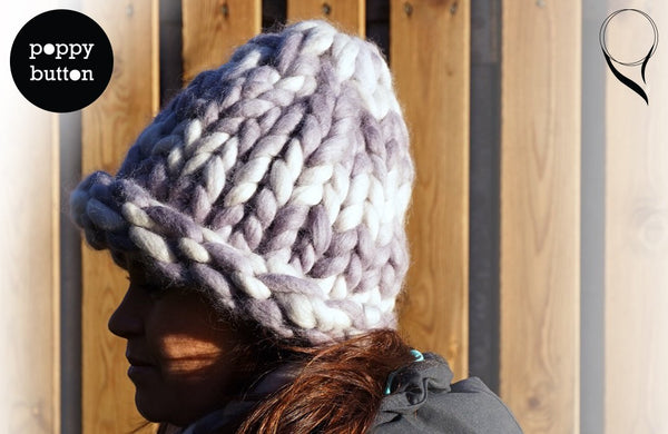 Made in Norway, Autumn Winter Soft Super chunky knit wool light grey beanie, hat (BE00001)