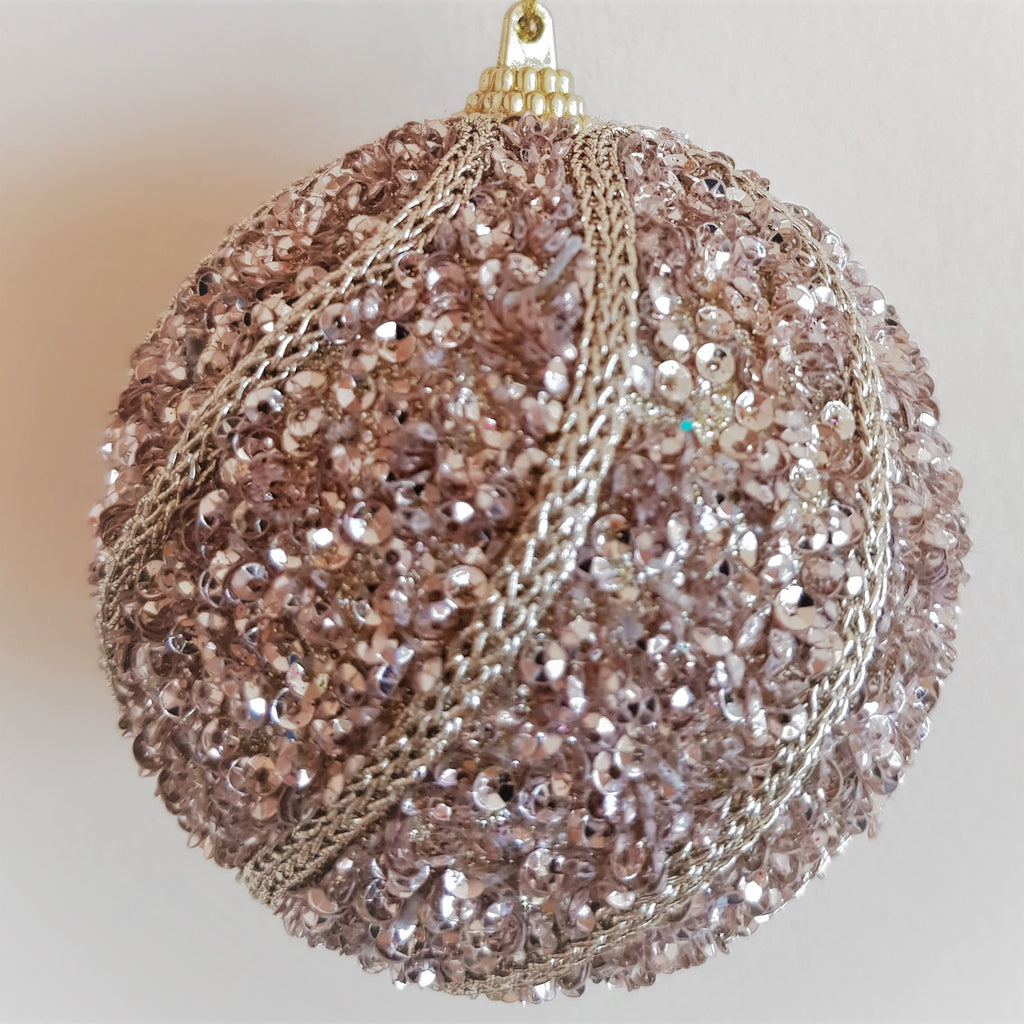 sequin christmas tree bauble decoration
