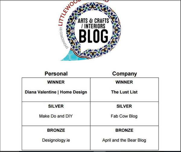 Best Interiors Blog at Ireland Blog Awards 2016