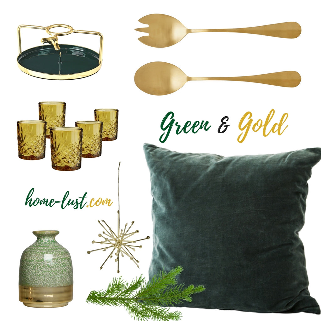 Christmas Inspiration: Green & Gold