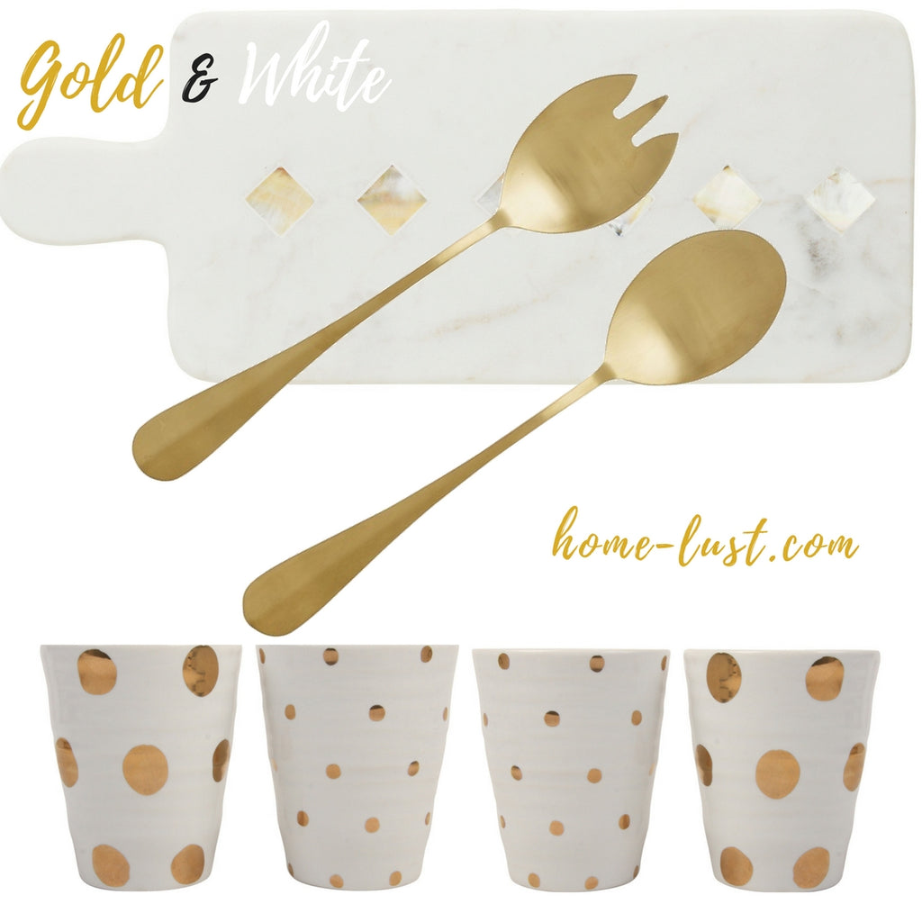 Christmas Inspiration: White Black and Gold