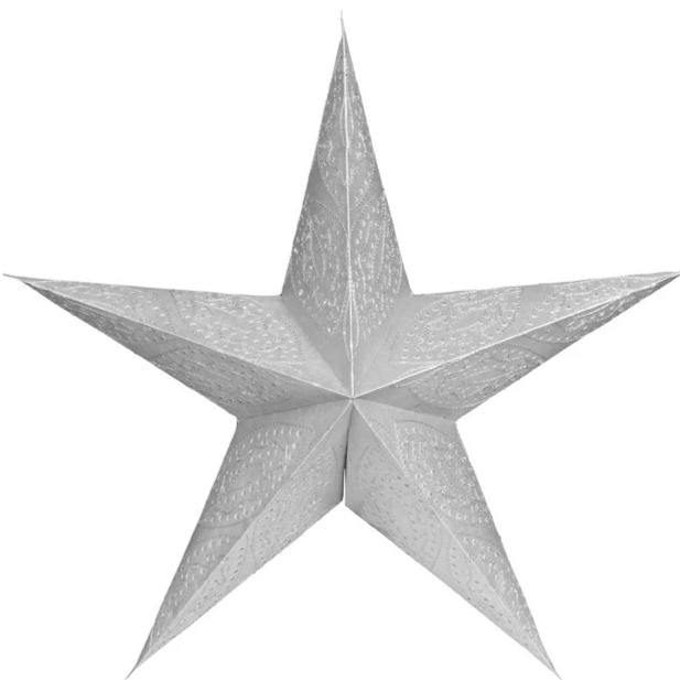 Illuminated silver paper Christmas star-Ireland