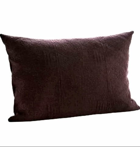 Quilted cotton cushion cover (aubergine)-Ireland