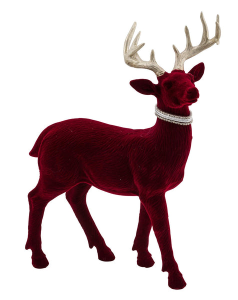 Velvet Red and Silver Christmas Reindeer-Ireland