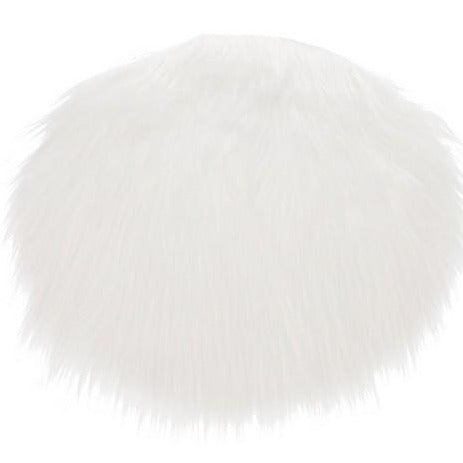 Faux sheepskin seating pads set (white)-Ireland