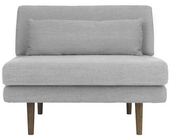Chaise with matching ottoman (grey)-Ireland