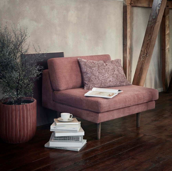 Chaise with matching ottoman (vintage pink)-Ireland