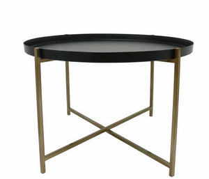 Black and brass tray coffee table-Ireland