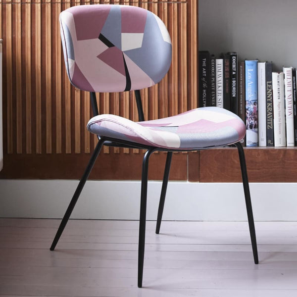 Geometric velvet dining chairs-Ireland