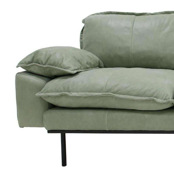 Mint leather sofa ( with optional matching ottoman)-Ireland