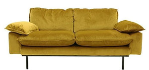 Ochre velvet sofa (with optional matching ottoman)-Ireland