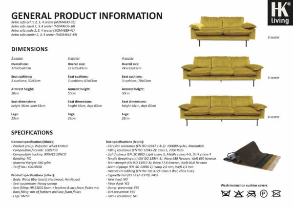 Ochre velvet sofa ( with optional matching ottoman)