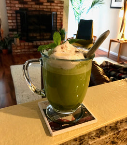 Turmeric Cinnamon Almond Milk Matcha Tea Latte