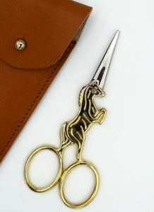 Pocket Scissors - Unicorn Scissors with Leather Case