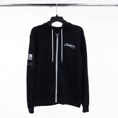 Premier zip up hoodie Black