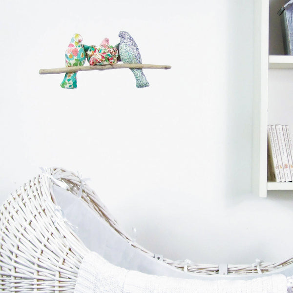 Liberty Print 'Our little one'  Nesting Bird Cot Mobile