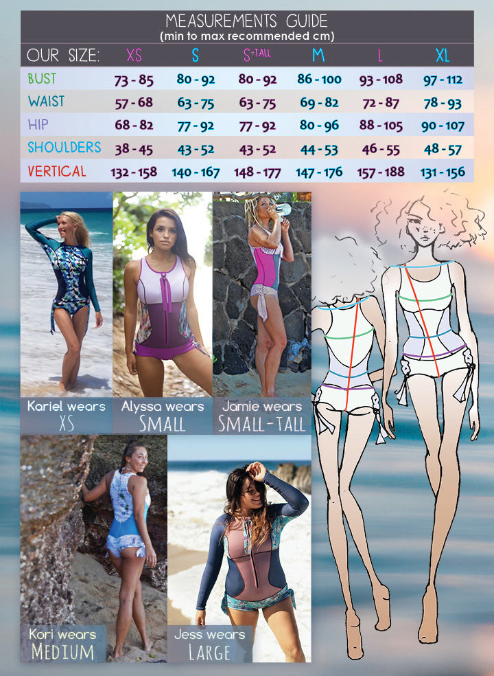 Sirensong Wetsuits Measurements and Sizing Guide