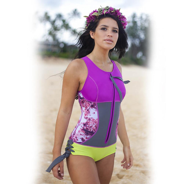 Sirensong Wetsuits | Blossom Sleeveless Booty-Cut Springsuit