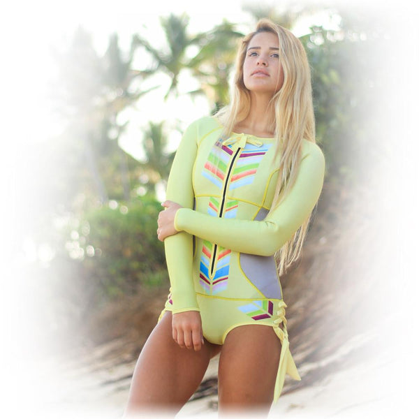 Sirensong Wetsuits | Carrie Long Sleeve Booty-Cut Springsuit (Large)