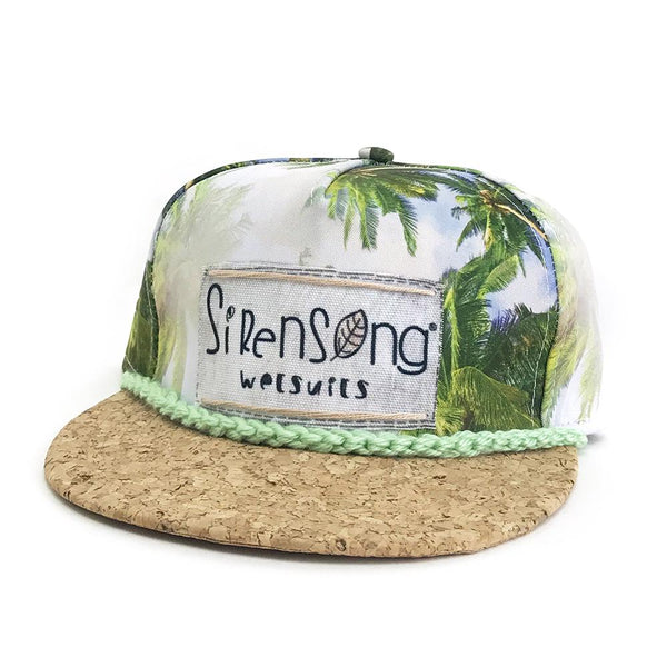 Sirensong Wetsuits | Cork-Brim Surf Hat - Huahine