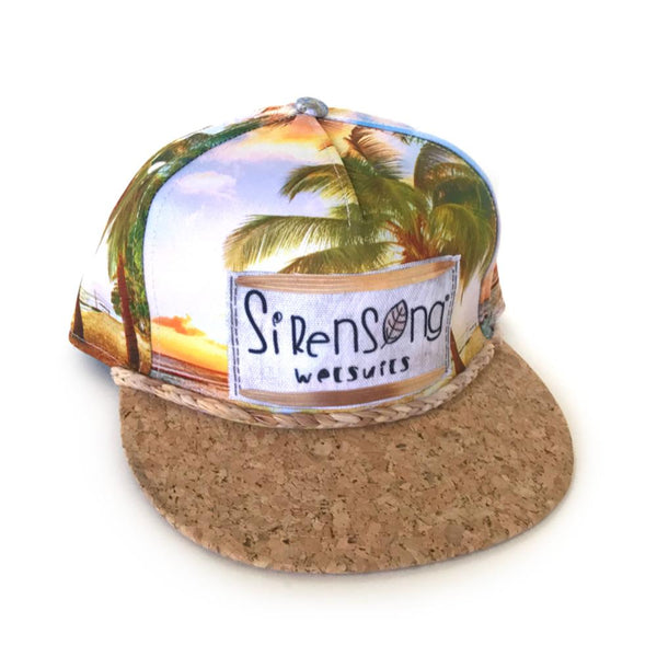 Cork-Brim Surf Hat - Sunrise Palms-Sirensong Wetsuits-Sirensong Wetsuits