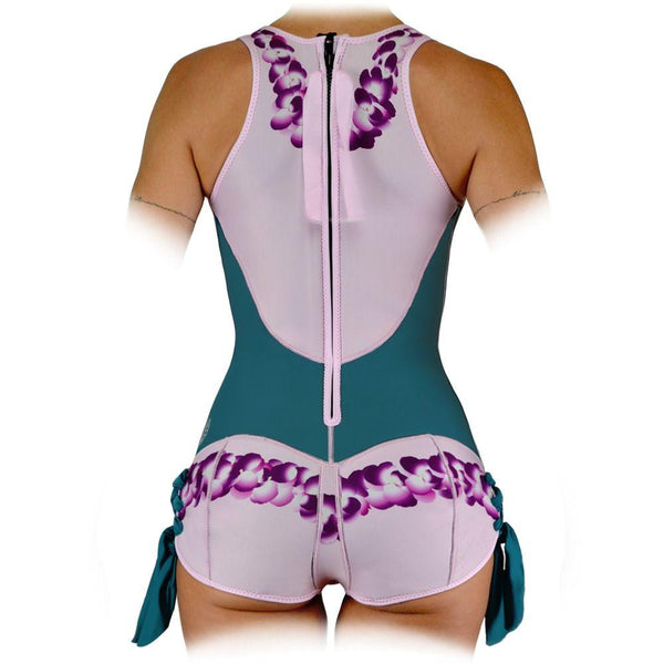 Sirensong Wetsuits | Lei Sleeveless Springsuit with Booty-Shorts Bottom