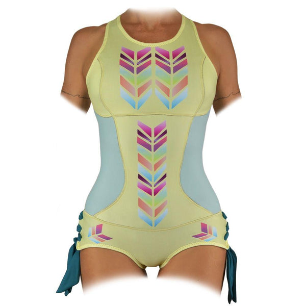 Sirensong Wetsuits | Maia Sleeveless Springsuit with Booty-Shorts Bottom