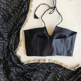 The Black Naina Halter Blouse