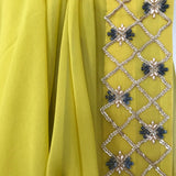 The Lime Green Birdy Sari