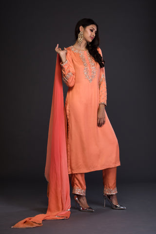 The Frozen Tangerine Kurta Set