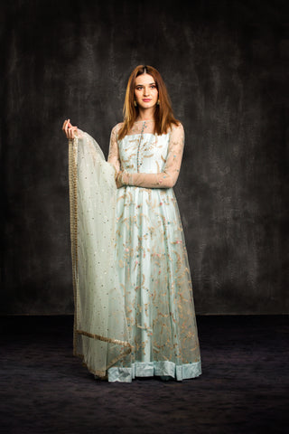 The Aqua Mahira Anarkali Set