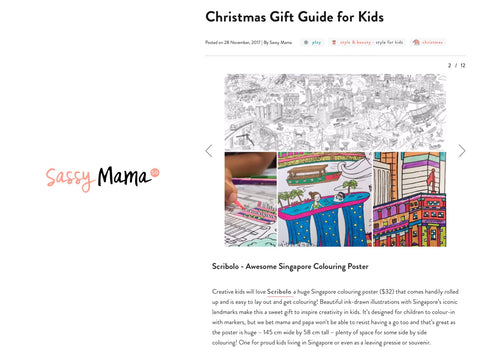 Christmas Gift Guide Layout.Press Scribolo