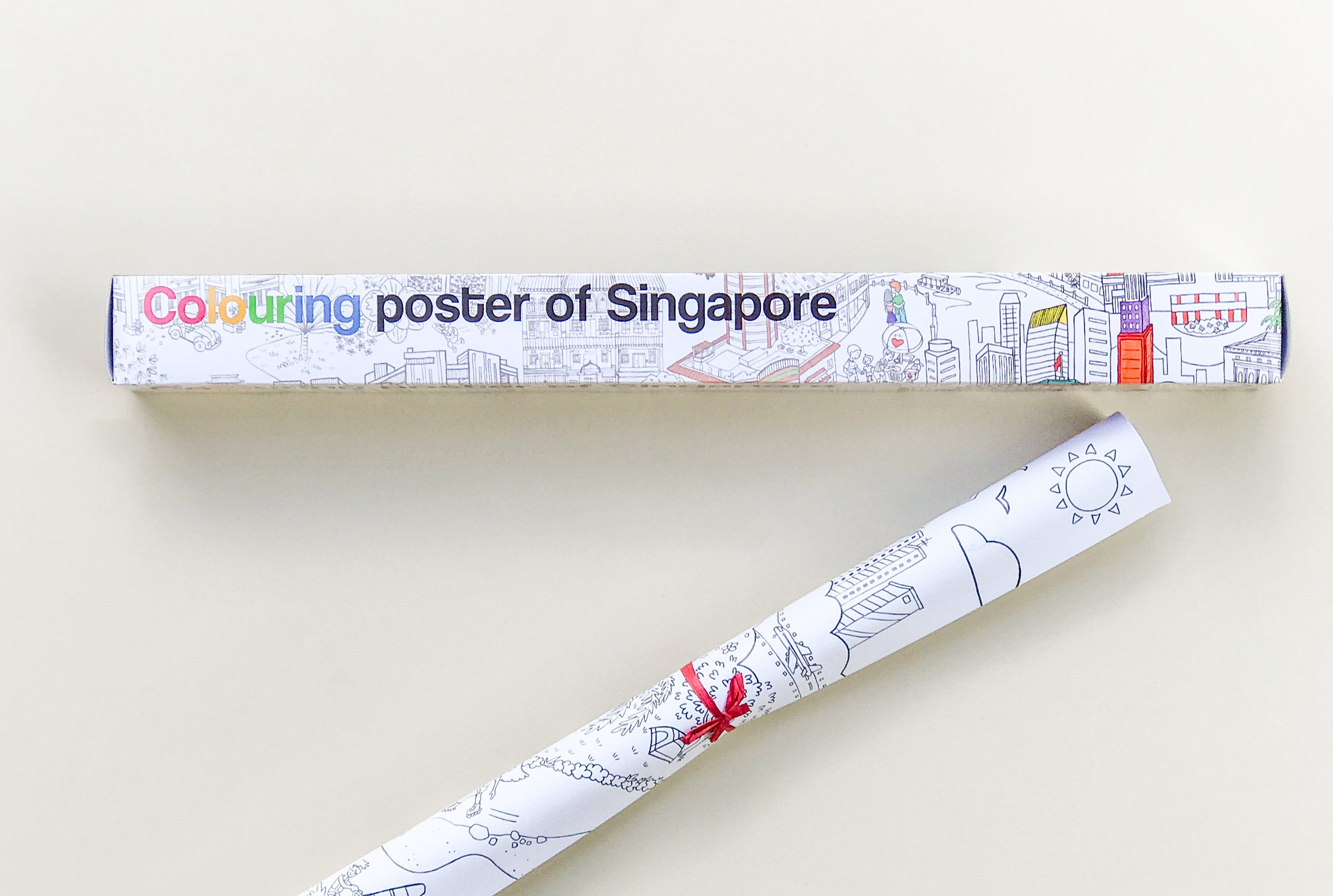 Giant colouring poster of Singapore