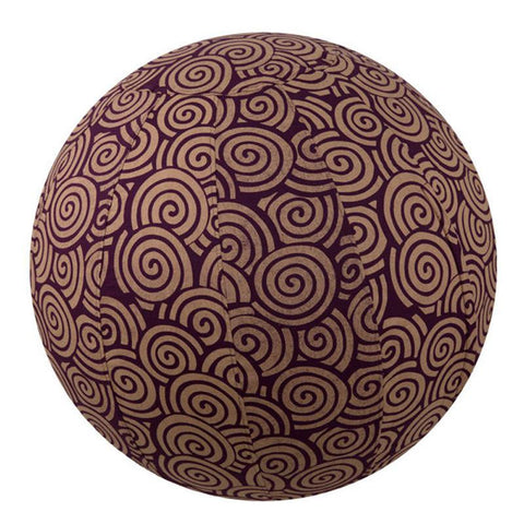 Yoga Ball Cover Size 65cm Design Plum Swirl - Global Groove (Y)