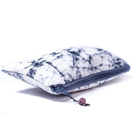 Batiked Clutch Purse - Gray - World Peaces (P)